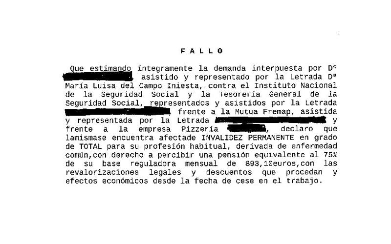 sentencia 7 incapacidad laboral